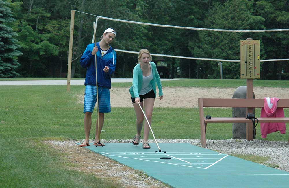 Outdoor Games at The Rushes - A Door County Year-Round Resort in Baileys Harbor Wisconsin