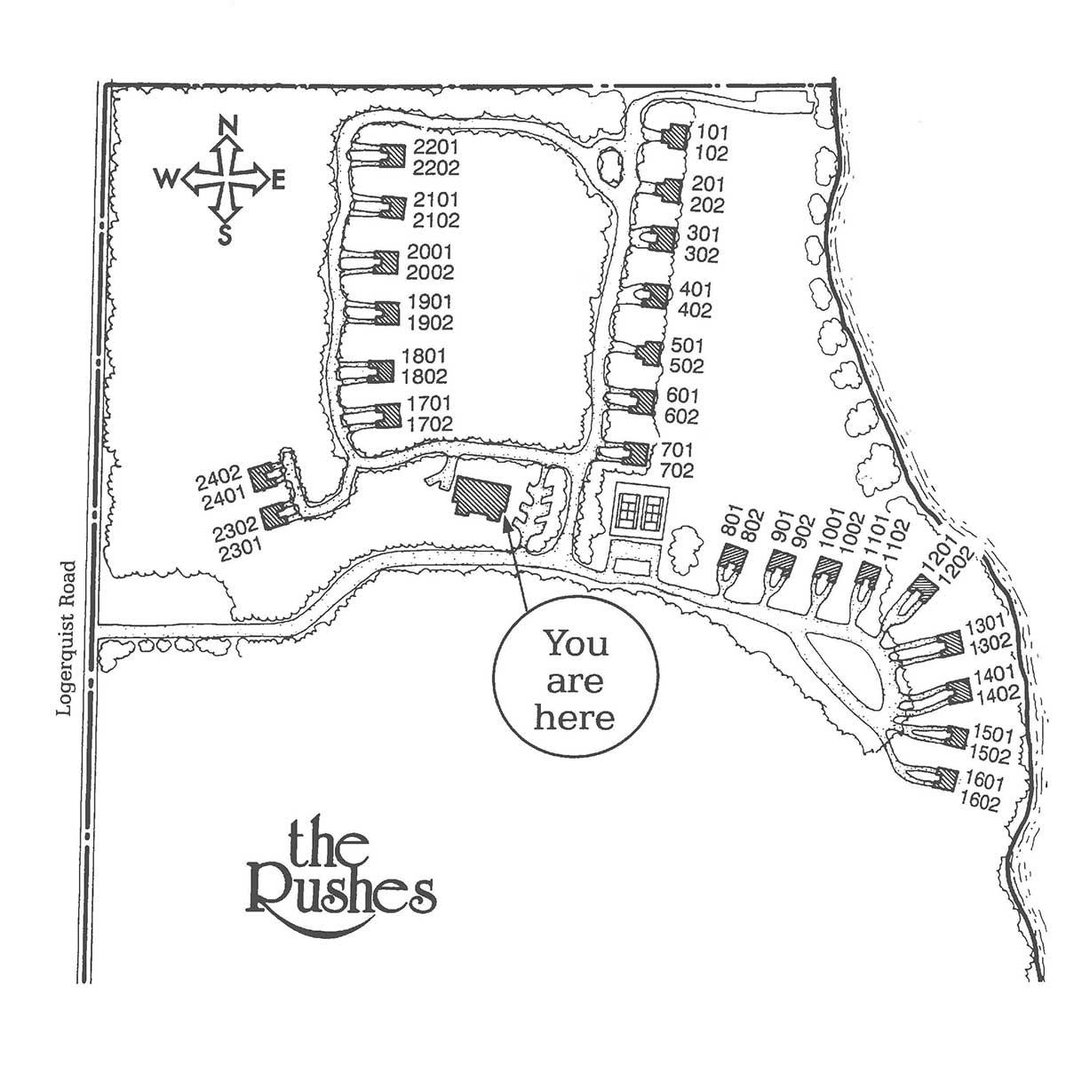 Five Year Calendar -- The Rushes Resort Door County Web Map on