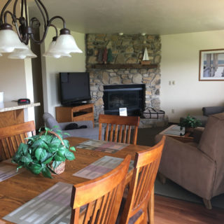 Living and Dining Rooms in Door County Condo Rental