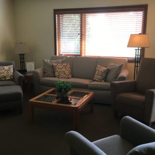 Living Room at The Rushes - Condo Rentals in Bailey's Harbor, Wisconsin